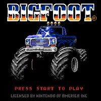 Big Foot, гонки на денди по пересеченной местности