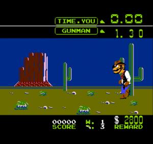 Wild Gunman - игра про ковбоев с пистолетом на денди