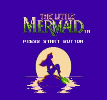 Little Mermaid, Русалочка Ариэль, Игра Русалка на денди