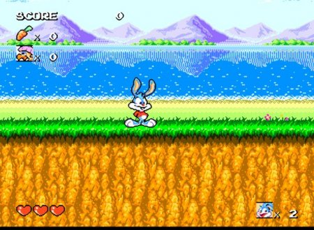 Tiny Toon Adventures - Buster's Hidden Treasure, Тинни Тун на Сега, Бакстер Банни