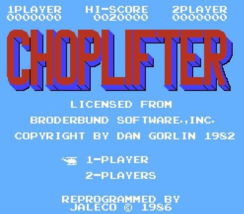 Choplifter, Вертолет-спасатель
