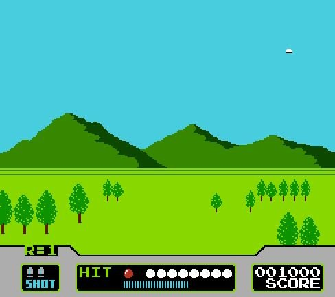Duck Hunt Clay Shoot, Стрельба по летающим тарелочкам
