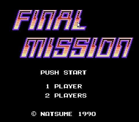 Final Mission, Последняя миссия