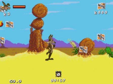 Desert Demolition, Страус и койот