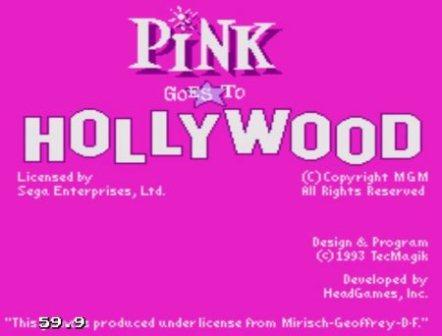 Pink Goes to Hollywood, Розовая пантера идет в Голливуд